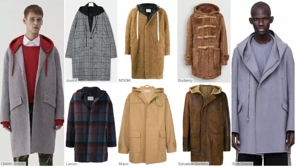 The Hooded Buttoned Mid-Length Coat