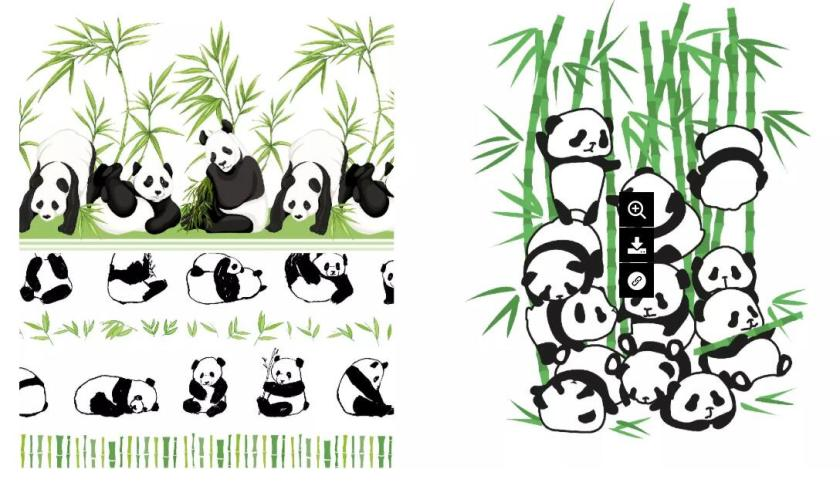 The Traditional Style Giant Panda Bamboo& The Giant Panda