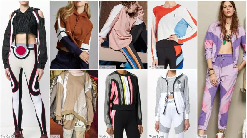 Color-blocking Sports Suit