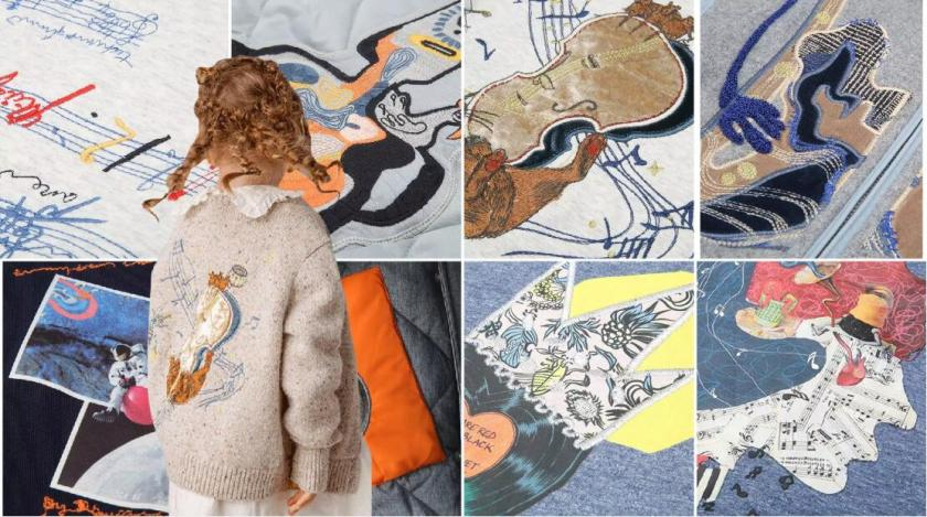 Embroidery pattern for kidswear