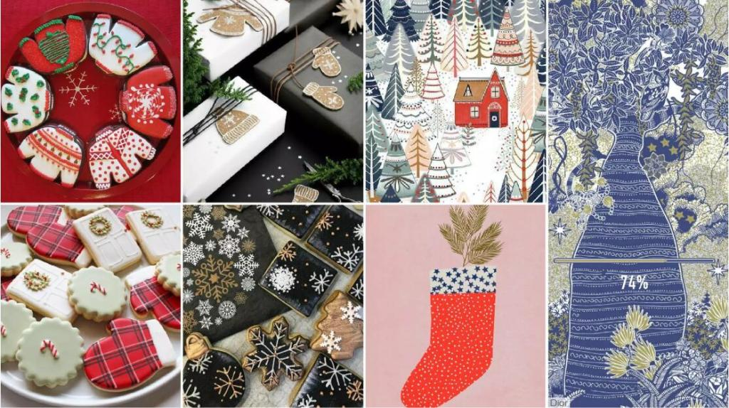 Christmas Elements and Graphic Design