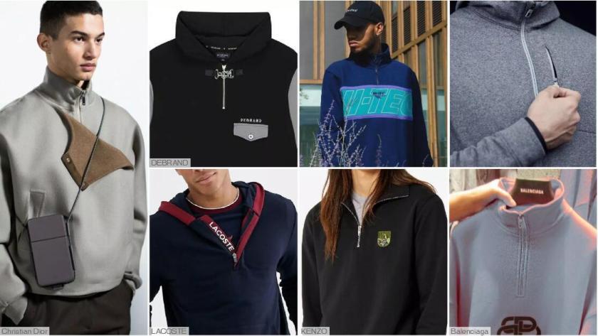 Half-zip Pullover Sweatshirts