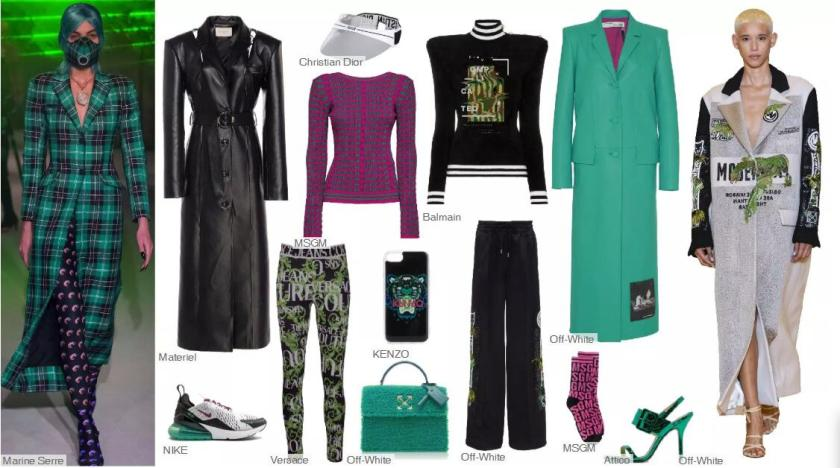 Mechanical Green, A Main Color-- Clothing Collocation( Wide-shoulder Long Overcoat)