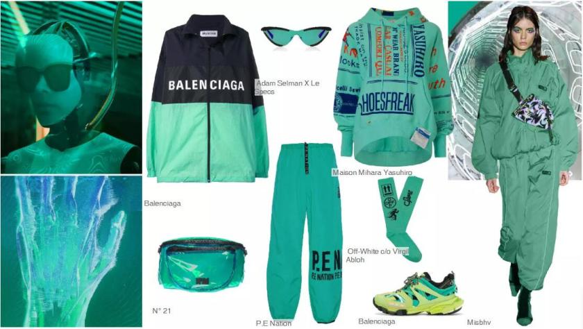 Mechanical Green-- Clothing Collocation