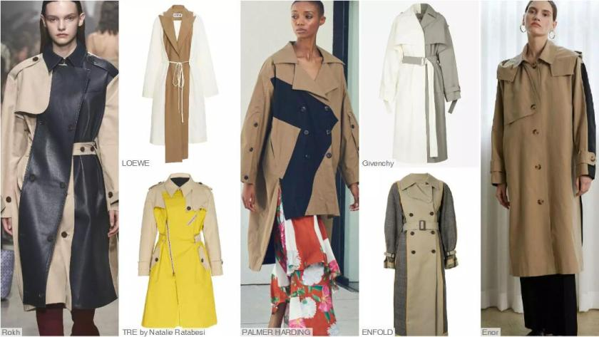 Spliced Trench Coats