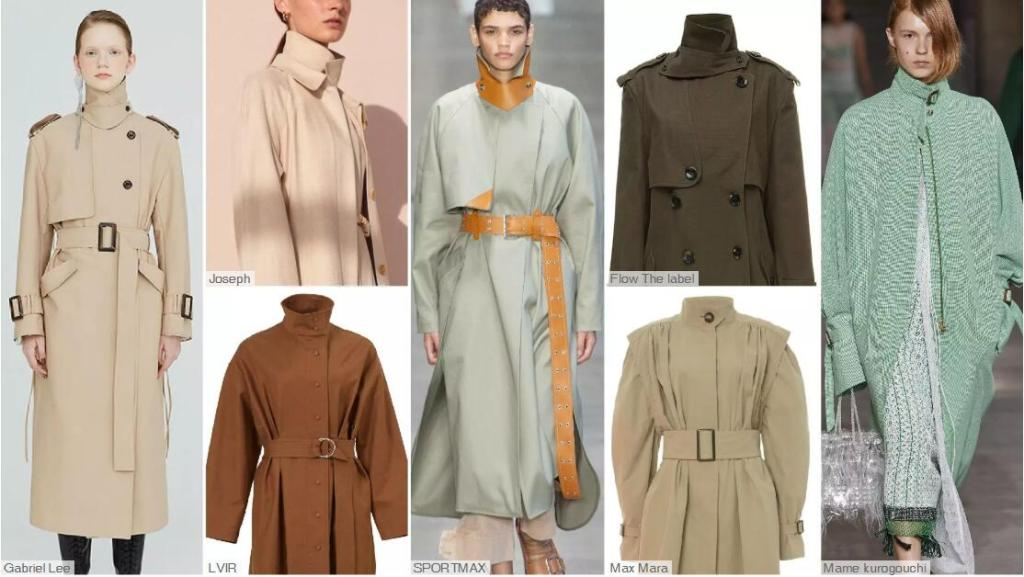 Wrap-neck Trench Coats