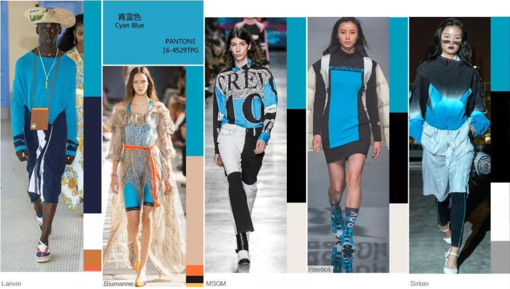 Cyan Blue -- Catwalk Looks