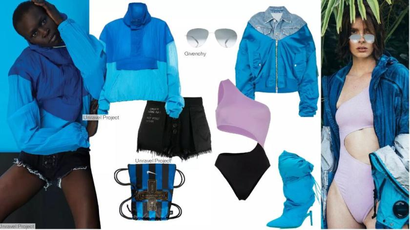 Cyan Blue -- Clothing Collocation