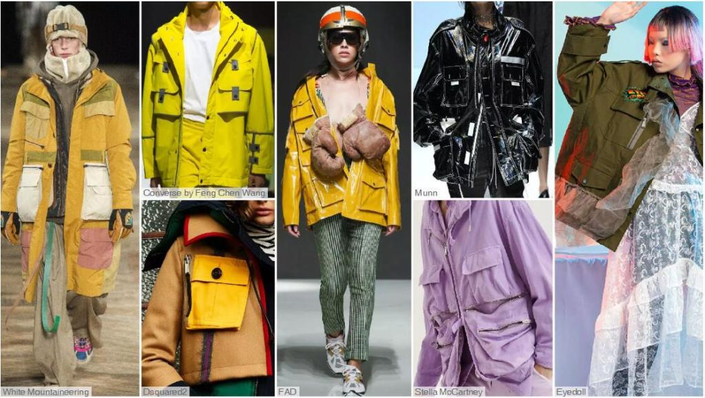 Functional Outerwear with Multiple Pockets