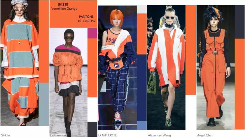 Vermillion Orange -- Catwalk Looks