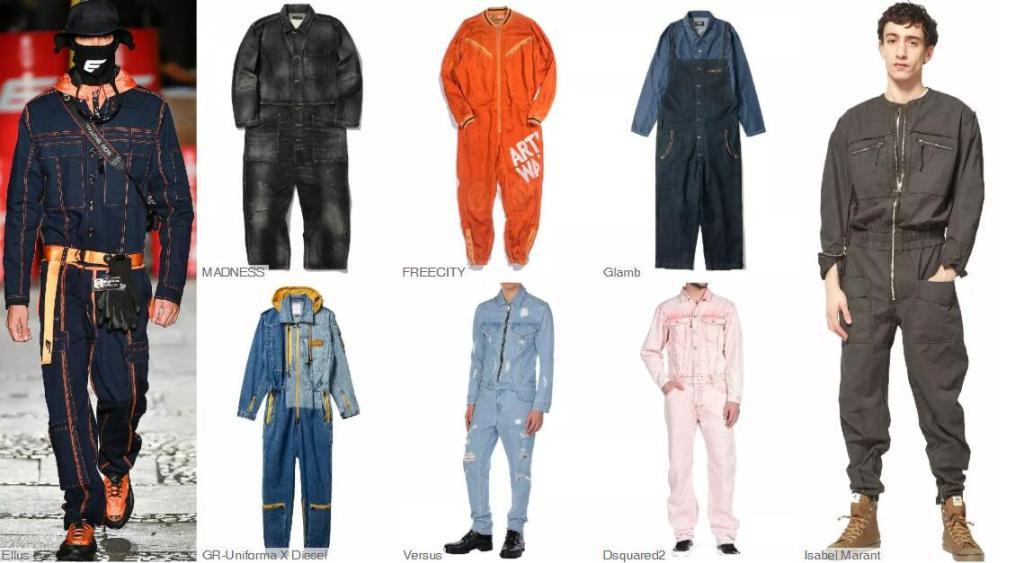 Workwear One-piece Jeans