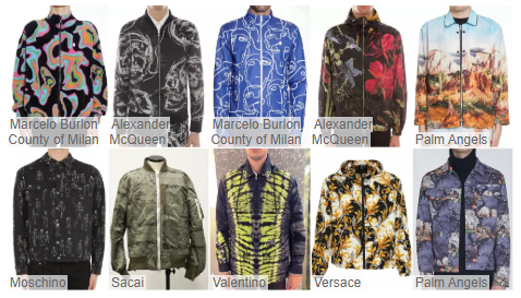 Jackets with Fashionable Prints