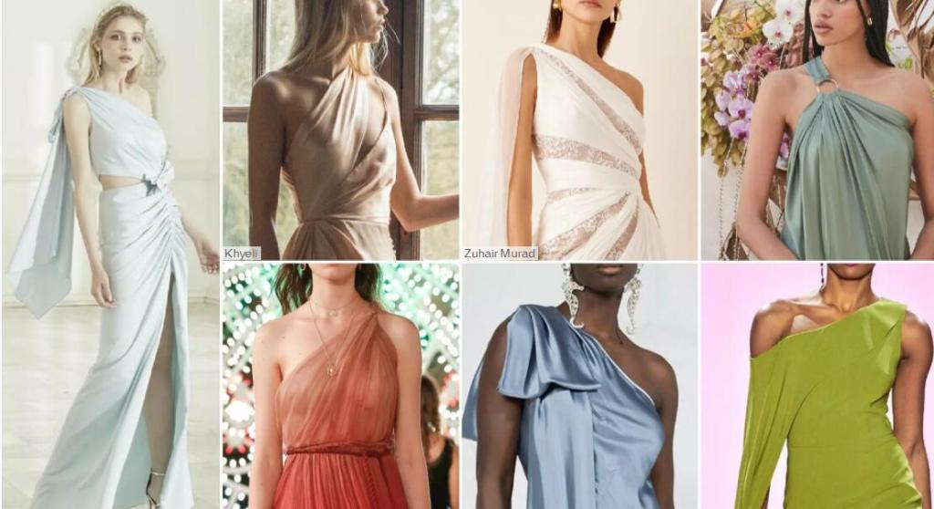 One-Shoulder Style bridesmaid dresses