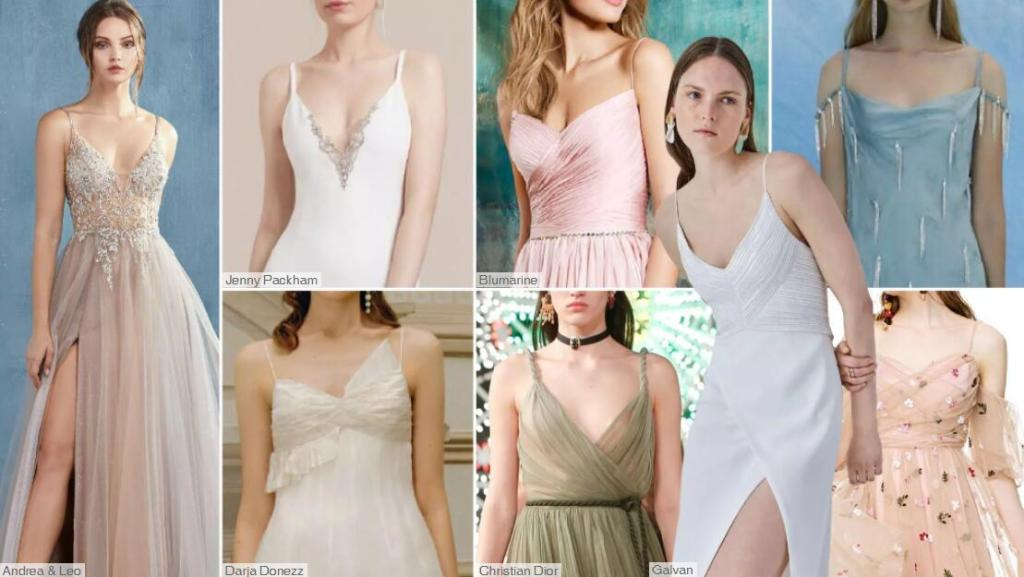 Slip Style bridesmaid dresses