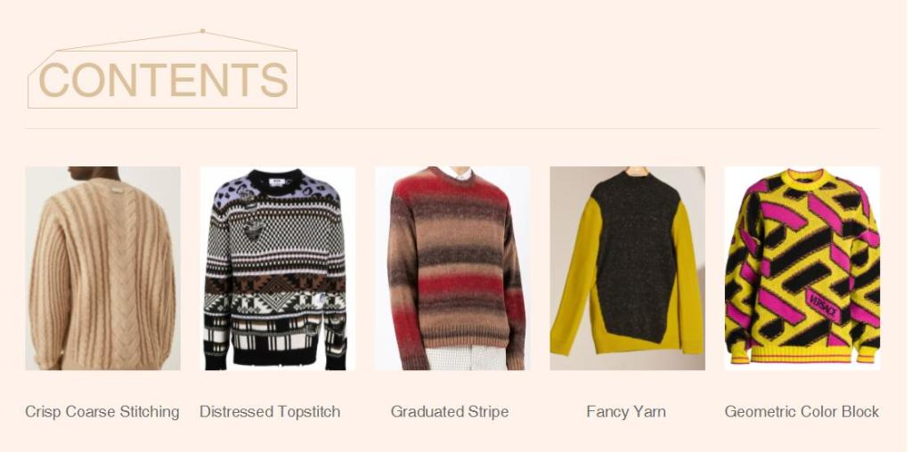 Men's Crewneck Pullover Knitwear