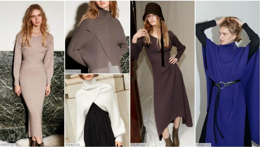 Wrapped Knitting overcoat