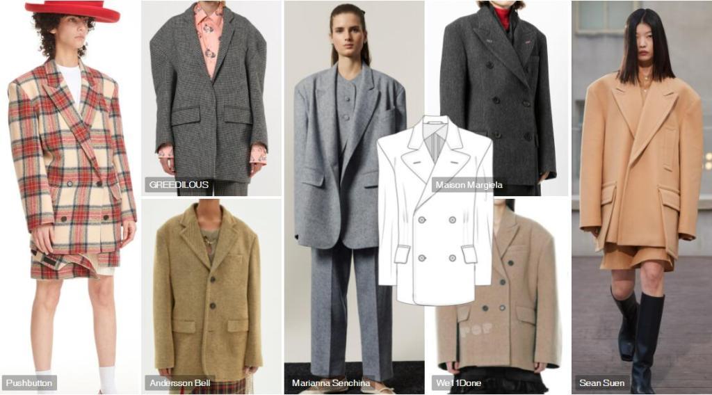 Oversized Shoulder overcoat